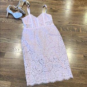Express blush pink lace dress, size 4
